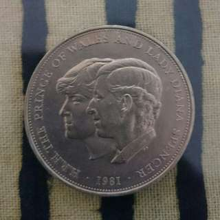 Prince Charles - Lady diana Commemorative wedding coin,1981