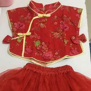 Congsam baby girl pakaian