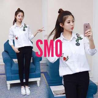 EMBROIDERED POLO TOP
