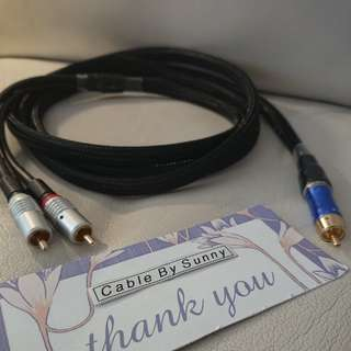 High quality 1rca to 2rca shield Subwoofer cable.