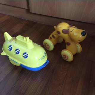 Boat and Dog Push and Go Toy