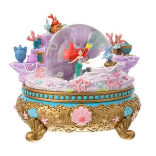 Japan Disneystore Disney Store Ariel the Little Mermaid D23 Expo Snow Globe with Music Box