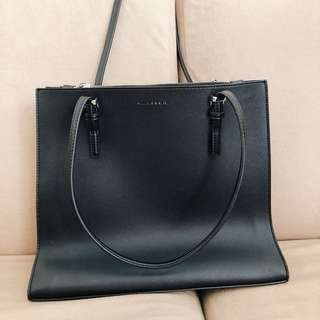 CHARLES&KEITH Structured Tote Bag (Black)