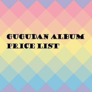 Gugudan album price list