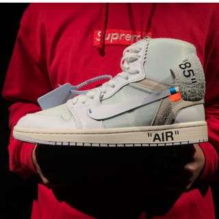"""OFF-WHITE x Air Jordan 1 High OG 10X""""Triple White"""""""