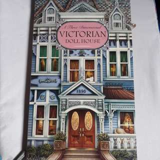 1998 Vintage 3D victorian doll house book