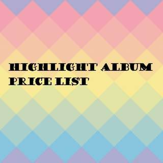 Highlight album price list