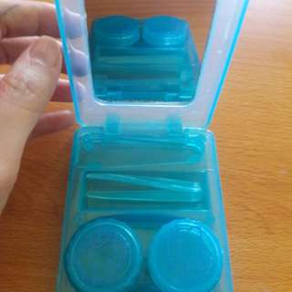 Preloved Tempat Softlen Biru Hello Kitty