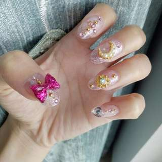 DIY Sailor Moon Inspired Nail Manicure Deco Set