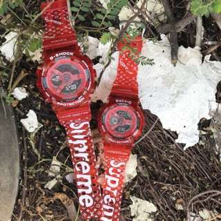 Gshock & BabyG GA110 Supreme Red Limited Edition