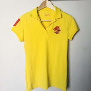 LIMITED GIORDANO Yellow Singapore Top