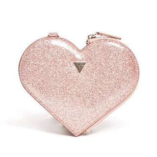 Sale‼️Guess🇨🇦Heart Coin Purse 玫瑰金