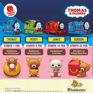 Thomas / Rilakkuma Mcd toys