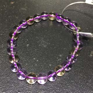 Purple and yellow amethyst A31