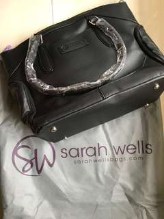 "Sarah Wells ""Annie"" Breast Pump Bag (Black)"