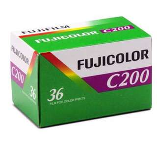 Fuji Fujifilm Fujicolor C200 35mm 135-36 Exposure Colour Print Film