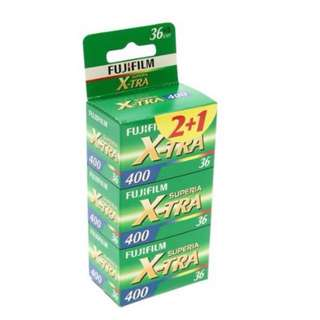 Fujifilm Superia X-TRA 400 36 Exposure Film - Pack of 3