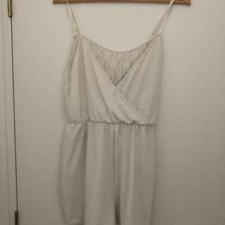 White H&M playsuit