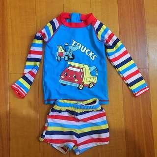 Rashguard swimwear for boys