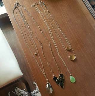 F21 Gold Necklaces (Whole Bunch)
