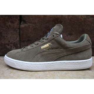 Puma Suede Sneakers (Olive Green)
