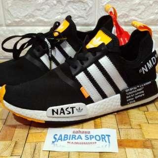 Sepatu Adidas NMD R-1 NAST OffWhite.