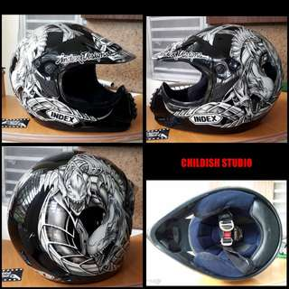 INDEX Motocross Designer Helmet for adults.