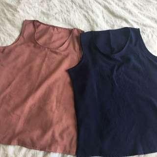 Linen singlet from Korean online shopping mall