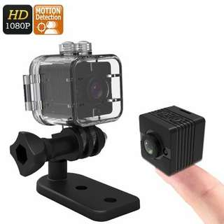 Mini Sports Action Camera - FHD Resolutions,Loop-Cycle Recording, Motion Detection, Night Vision (Black) (CVAIA-DV175)