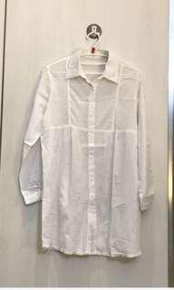 Yuan boutique Dress kemeja putih