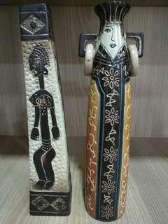 Handmade decorative vases