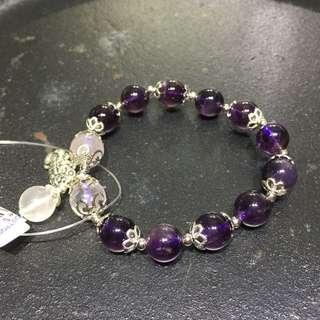 Amethyst bracelet with 925 silver
