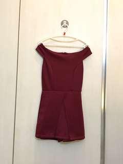 Jumpsuit Sabrina Merah maroon