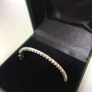 真鑽 2卡鑽石手鐲 2ct diamond bangle