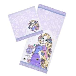 Japan Disneystore Disney Store Rapunzel Tangled Princess Party Towel Set