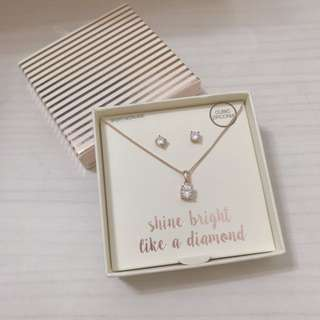 Lovisa Shine Bright Like a Diamond Necklace Set