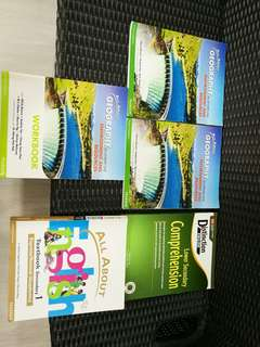 Lower secondary English and Geography books