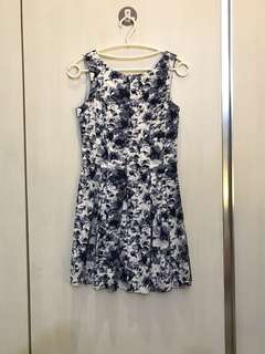Dress body & soul putih biru