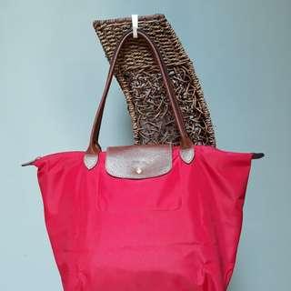 Preloved longchamp bag Original Red size M