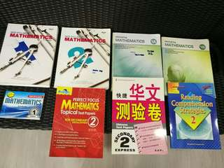 Lower secondary Mathematics, Chinese and Comprehension book