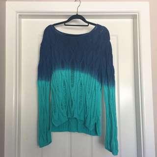 Ombré turquoise knit