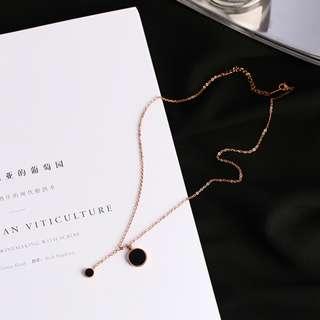 Clavicle Chain Titanium Steel Necklace