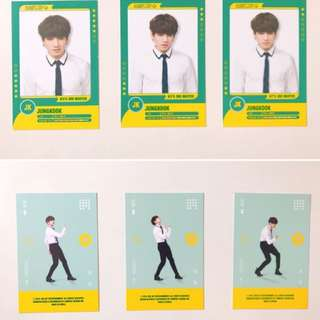 BTS 3rd muster player card (JK)
