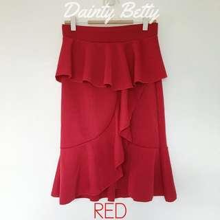 Women's ruffled skirts