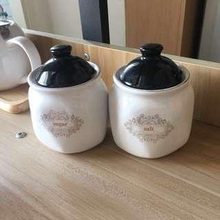 Salt & sugar 陶瓷鹽糖壺