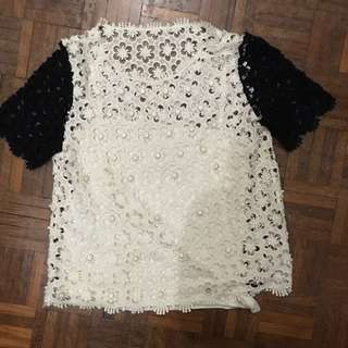 #FEB50 Lace top with inner piece (size M)