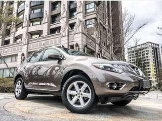 買車找現金 2011年 MURANO 3.5L 全車原廠鈑件 4WD 電尾門 6安全氣囊 倒車顯影 導航 雙天窗 電動椅