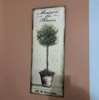 Wall Decor metal tin