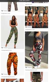 LOOKING FOR CAMO PANTS
