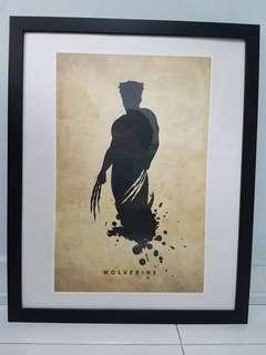 Framed wolverine poster